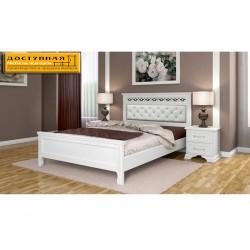 """Кровать из массива """"Грация"""" античный белый"""