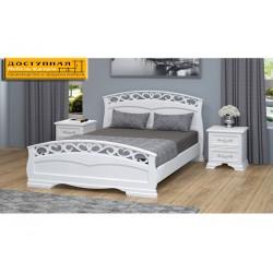 """Кровать из массива """"Грация 1"""" античный белый"""