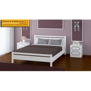 """Кровать из массива """"Вероника 1"""" дуб белый"""