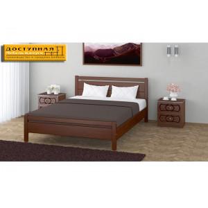 """Кровать из массива """"Вероника 1"""" орех"""
