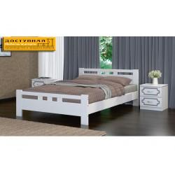 """Кровать из массива """"Вероника 2"""" дуб белый"""