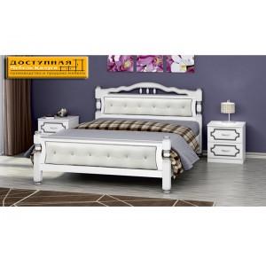 """Кровать из массива """"Карина 11"""" белый жемчуг"""
