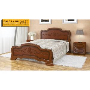 """Кровать из массива """"Карина 17"""" орех"""