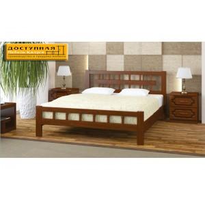 """Кровать из массива """"Натали 5"""" орех"""