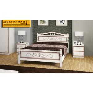 """Кровать из массива """"Карина 5"""" дуб молочный"""