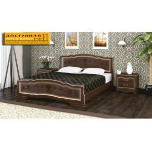 """Кровать из массива """"Карина 6"""" орех темный с тонировкой"""