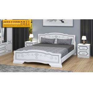 """Кровать из массива """"Карина 6"""" белый жемчуг"""