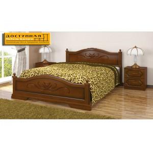 """Кровать из массива """"Карина"""" орех"""